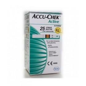 STRISCE MISURAZIONE GLICEMIA ACCU-CHEK ACTIVE STRIPS 25...