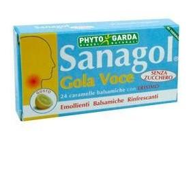 SANAGOL GOLA VOCE SENZA ZUCCHERO LIMONE 24 CARAMELLE